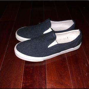 Old Navy Blue Slip On Sneakers
